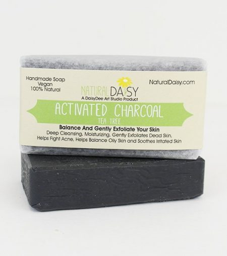 Activated Charcoal Soap with Tea Tree